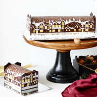 Chocolate Hazelnut Cookie Dough Log Cake - 1Kg