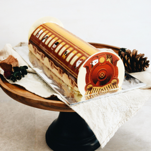 Yuzu Raspberry Log Cake - 500g