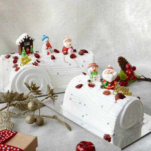 White Chocolate Cranberry Log Cake - 1kg