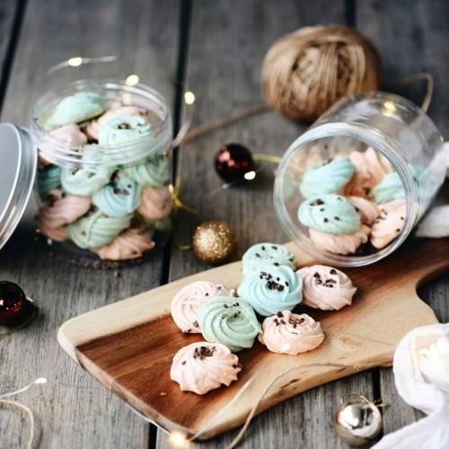 Bubble Gum Meringue Cookies Jar