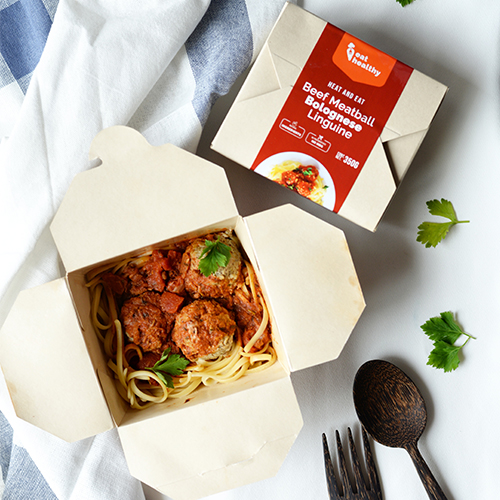 Beef Meatball Bolognese Linguine