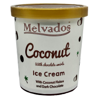 Coconut with Chocolate Swirls Ice Cream