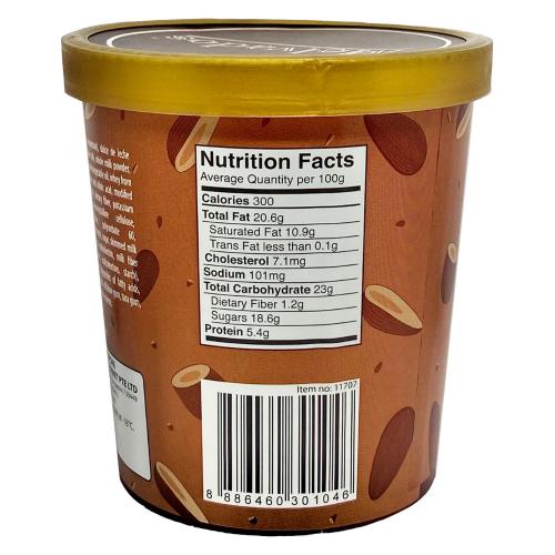 Salty Caramel Almond Ice Cream