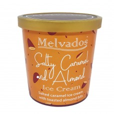 Salty Caramel Almond Ice Cream