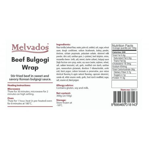 Beef Bulgogi Wrap - 2pcs