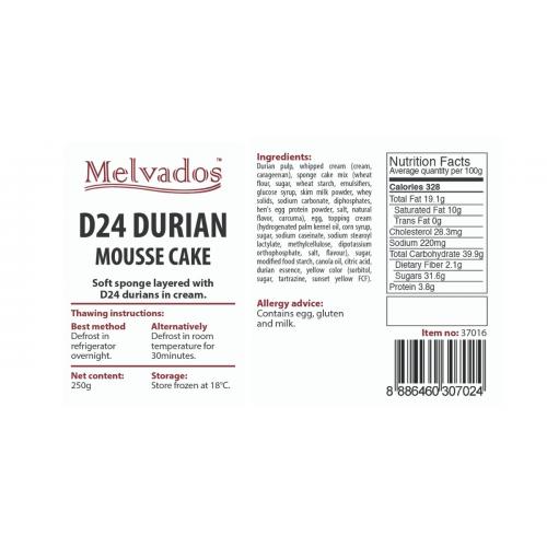 D24 Durian Mousse Cake - 4pcs