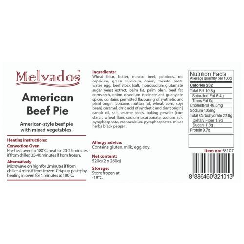 American Beef Pie - 2pcs