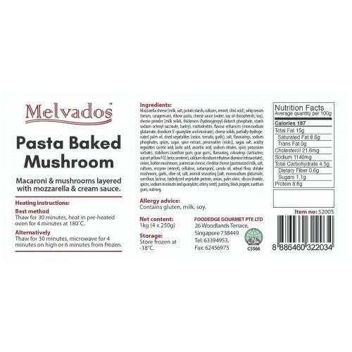 Pasta Bake Mushroom - 4 portions
