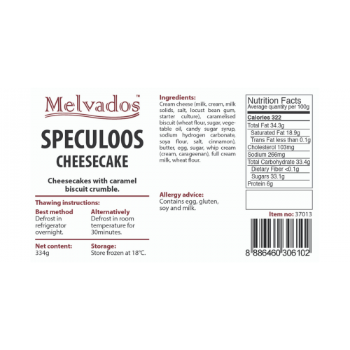 Speculoos Cheesecake - 4pcs