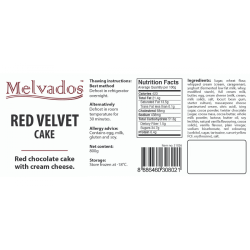 Red Velvet Cake Tray