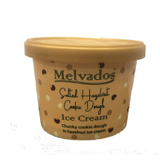 Salted Hazelnut Cookie Dough Ice Cream - 120ml