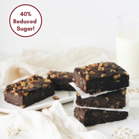 Dark Chocolate Brownie (Reduced Sugar) - 4pcs