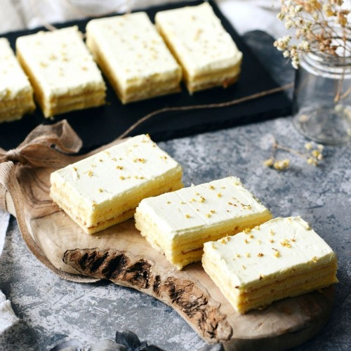 Yuzu Osmanthus Tray Cake - 10pcs